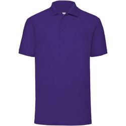 textil Herre Polo-t-shirts m. korte ærmer Fruit Of The Loom 63402 Purple