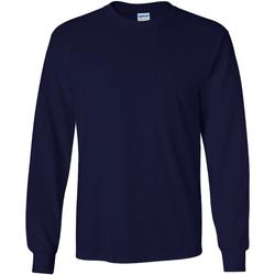 textil Herre Langærmede T-shirts Gildan 2400 Navy