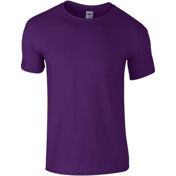 textil Herre T-shirts m. korte ærmer Gildan Soft-Style Purple