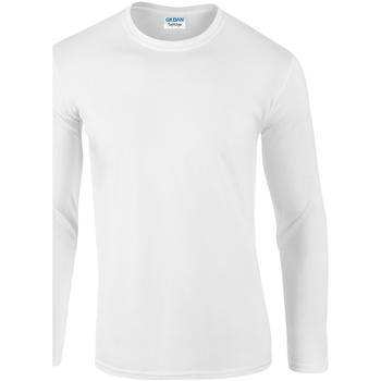 textil Herre Langærmede T-shirts Gildan 64400 White