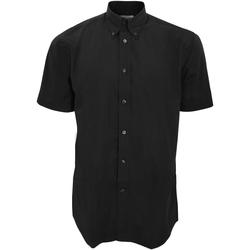 textil Herre Skjorter m. korte ærmer Kustom Kit KK100 Black