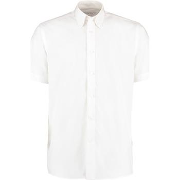 textil Herre Skjorter m. korte ærmer Kustom Kit KK100 White