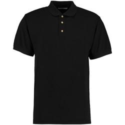 textil Herre Polo-t-shirts m. korte ærmer Kustom Kit KK400 Black