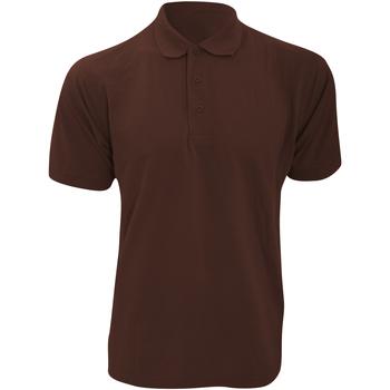 textil Herre Polo-t-shirts m. korte ærmer Kustom Kit KK403 Chocolate