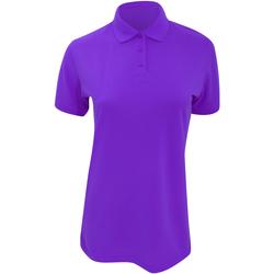 textil Dame Polo-t-shirts m. korte ærmer Kustom Kit Klassic Purple