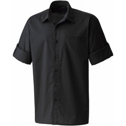 textil Herre Skjorter m. korte ærmer Premier PR206 Black