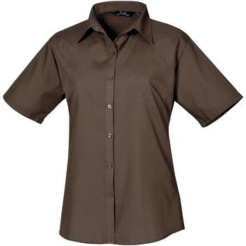 textil Dame Skjorter / Skjortebluser Premier PR302 Brown