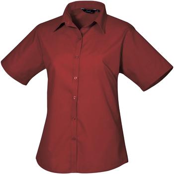textil Dame Skjorter / Skjortebluser Premier PR302 Burgundy
