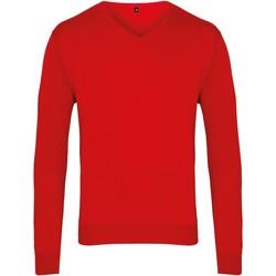 textil Herre Pullovere Premier PR694 Red