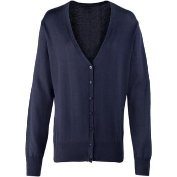 textil Dame Veste / Cardigans Premier Button Through Navy
