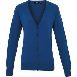 textil Dame Veste / Cardigans Premier Button Through Royal