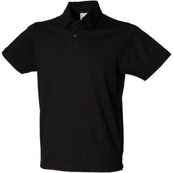 textil Herre Polo-t-shirts m. korte ærmer Skinni Fit SFM42 Black