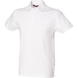textil Herre Polo-t-shirts m. korte ærmer Skinni Fit SFM42 White