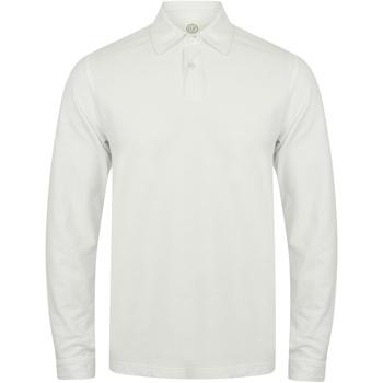 textil Herre Polo-t-shirts m. lange ærmer Skinni Fit SFM44 White