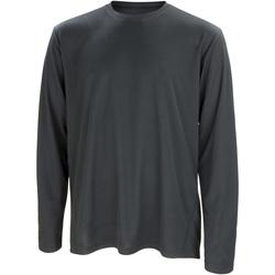 textil Herre Langærmede T-shirts Spiro S254M Black