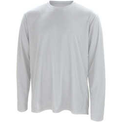 textil Herre Langærmede T-shirts Spiro S254M White