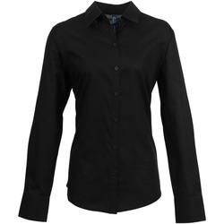 textil Dame Skjorter / Skjortebluser Premier PR334 Black