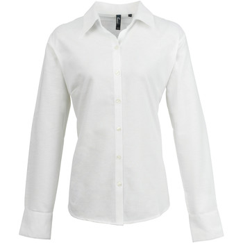 textil Dame Skjorter / Skjortebluser Premier PR334 White