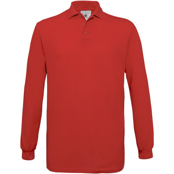 textil Herre Polo-t-shirts m. lange ærmer B And C PU414 Red
