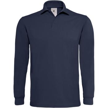 textil Herre Polo-t-shirts m. lange ærmer B And C PU423 Navy