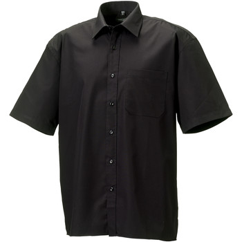 textil Herre Skjorter m. korte ærmer Russell J937M Black