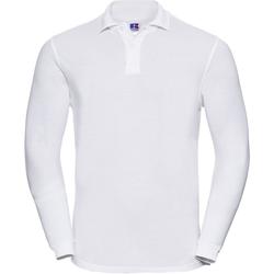textil Herre Polo-t-shirts m. lange ærmer Russell 569M White