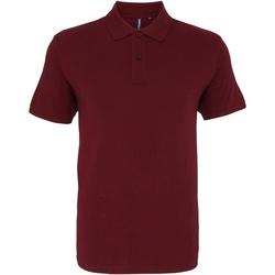 textil Herre Polo-t-shirts m. korte ærmer Asquith & Fox AQ010 Burgundy