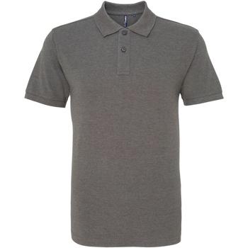 textil Herre Polo-t-shirts m. korte ærmer Asquith & Fox AQ010 Charcoal