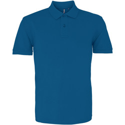 textil Herre Polo-t-shirts m. korte ærmer Asquith & Fox AQ010 Peacock