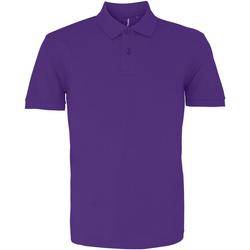 textil Herre Polo-t-shirts m. korte ærmer Asquith & Fox AQ010 Purple