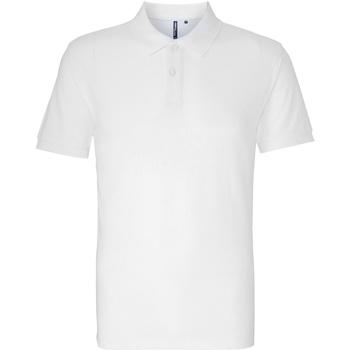 textil Herre Polo-t-shirts m. korte ærmer Asquith & Fox AQ010 White