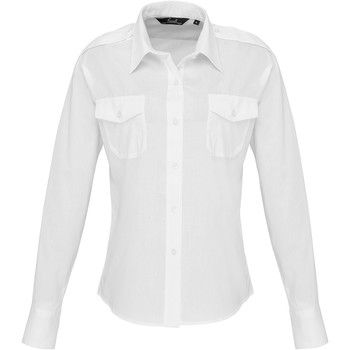 textil Dame Skjorter / Skjortebluser Premier PR310 White