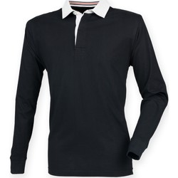 textil Herre Polo-t-shirts m. lange ærmer Front Row FR104 Black