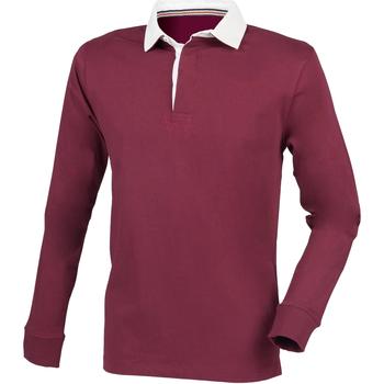 textil Herre Polo-t-shirts m. lange ærmer Front Row FR104 Burgundy