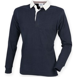 textil Herre Polo-t-shirts m. lange ærmer Front Row FR104 Navy