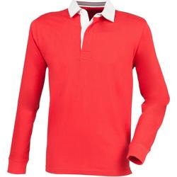 textil Herre Polo-t-shirts m. lange ærmer Front Row FR104 Red