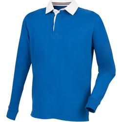 textil Herre Polo-t-shirts m. lange ærmer Front Row FR104 Royal