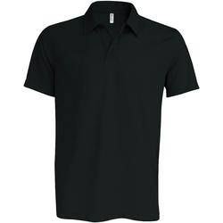 textil Herre Polo-t-shirts m. korte ærmer Kariban Proact PA482 Black