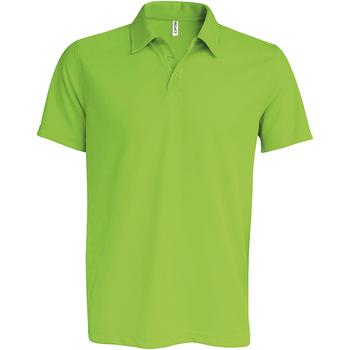 textil Herre Polo-t-shirts m. korte ærmer Kariban Proact PA482 Lime