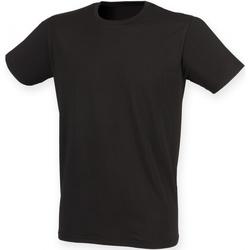 textil Herre T-shirts m. korte ærmer Skinni Fit SF121 Black