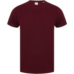 textil Herre T-shirts m. korte ærmer Skinni Fit SF121 Burgundy