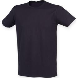 textil Herre T-shirts m. korte ærmer Skinni Fit SF121 Navy