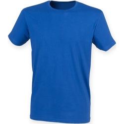 textil Herre T-shirts m. korte ærmer Skinni Fit SF121 Royal