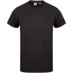 textil Herre T-shirts m. korte ærmer Skinni Fit SF122 Black