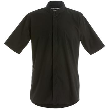 textil Herre Skjorter m. korte ærmer Kustom Kit KK160 Black
