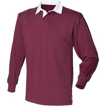 textil Herre Polo-t-shirts m. lange ærmer Front Row Rugby Burgundy