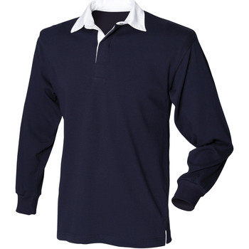 textil Herre Polo-t-shirts m. lange ærmer Front Row Rugby Navy