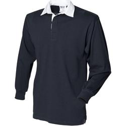 textil Herre Polo-t-shirts m. lange ærmer Front Row Rugby Black