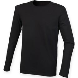 textil Herre Langærmede T-shirts Skinni Fit SF124 Black
