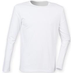 textil Herre Langærmede T-shirts Skinni Fit SF124 White
